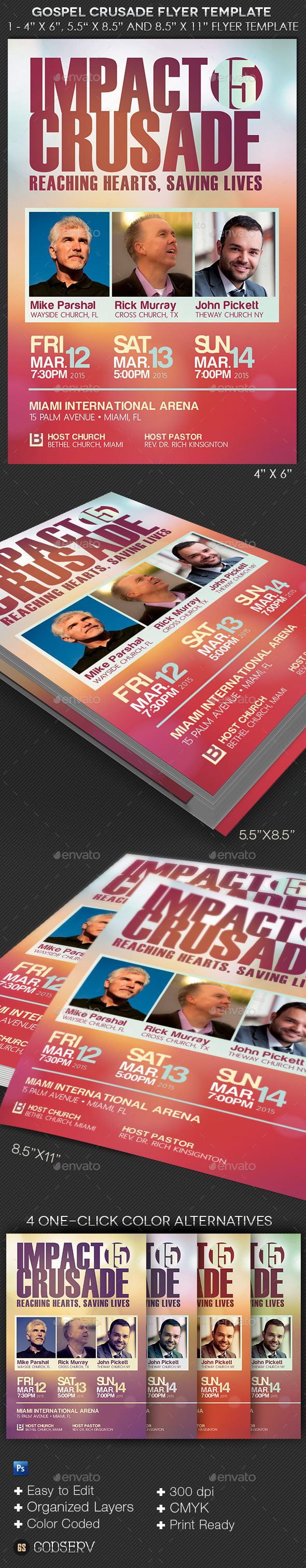 GraphicRiver Gospel Crusade Flyer Template 10440993