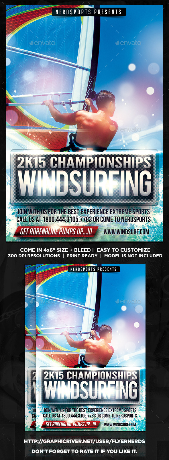 GraphicRiver Windsurfing Championships Sports Flyer 10441174