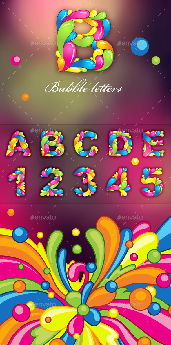GraphicRiver Bubble Letters 10441177
