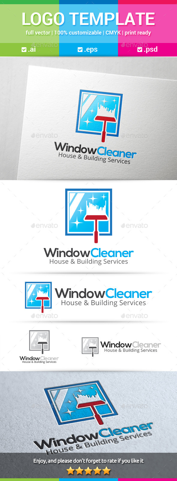 GraphicRiver Window Cleaner Logo 10441239