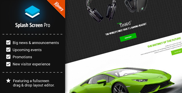 CodeCanyon Splash Screen Pro for jQuery 10442042