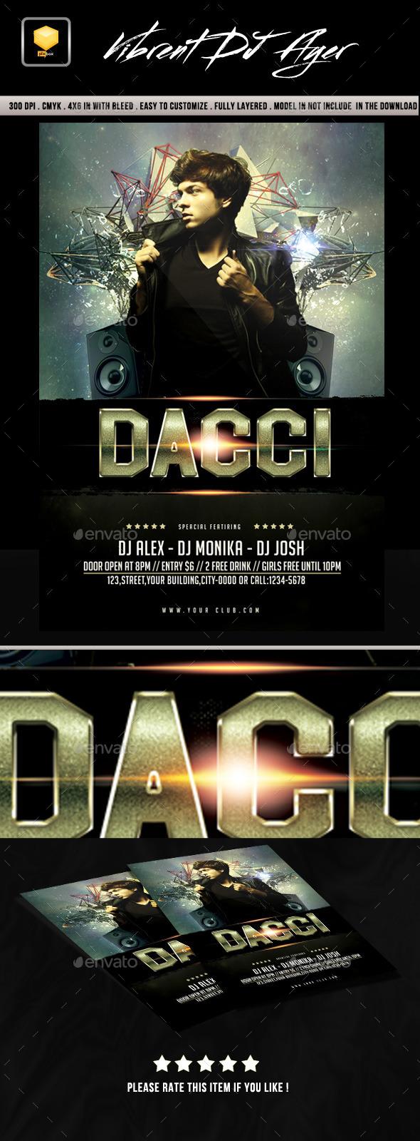 GraphicRiver Vibrent DJ Night Flyer 10442065