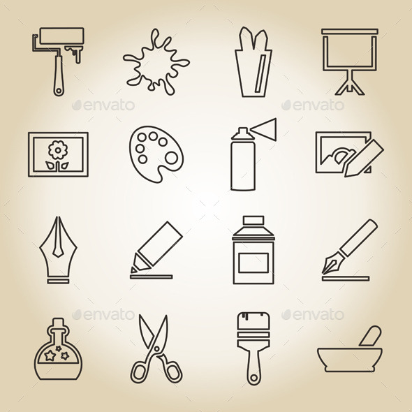 GraphicRiver Art Outline Icon 10442083