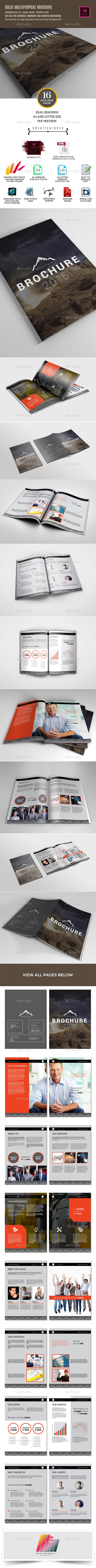 GraphicRiver Mountain Brochure Template for Business Use 10442173