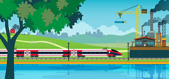 GraphicRiver High Speed Train 10442180