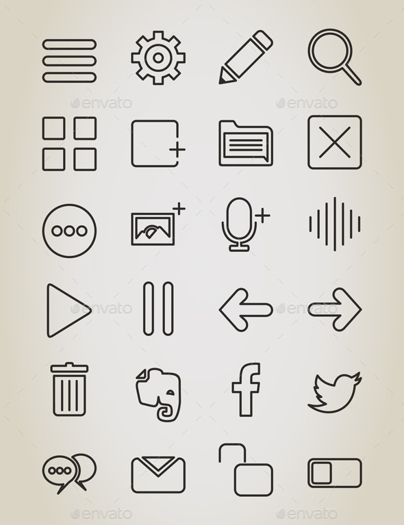 GraphicRiver Web Outline Icon 10442271