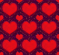 Hearts with Stars Grunge Style Pattern - PhotoDune Item for Sale