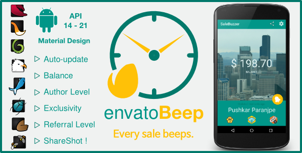 CodeCanyon Envato Beep Periodic Sale Update App 10442608