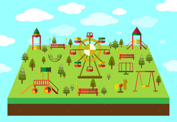 GraphicRiver Playground Equipment 10442626