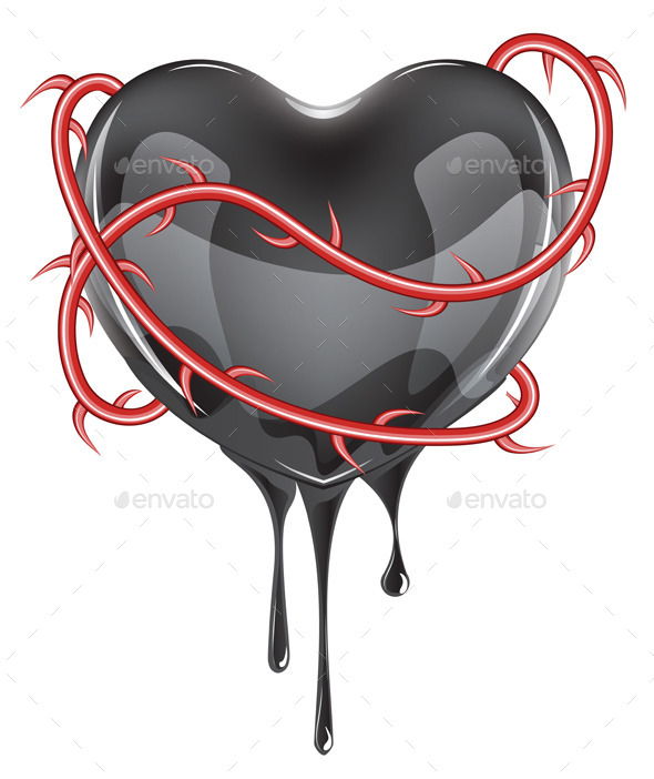 GraphicRiver Bleeding Black Heart 10442648