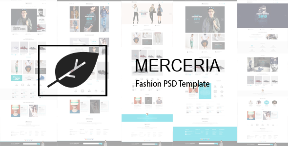 ThemeForest MERCERIA Fashion PSD Template 10442725