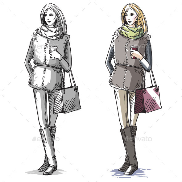 GraphicRiver Fashion Illustration 10442760