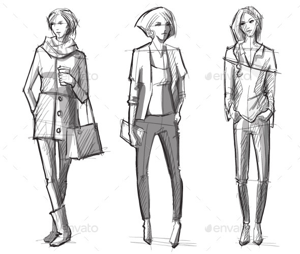 GraphicRiver Fashion Sketches 10442767