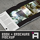 Square Hardcover Book & Brochure Mock-Up - GraphicRiver Item for Sale