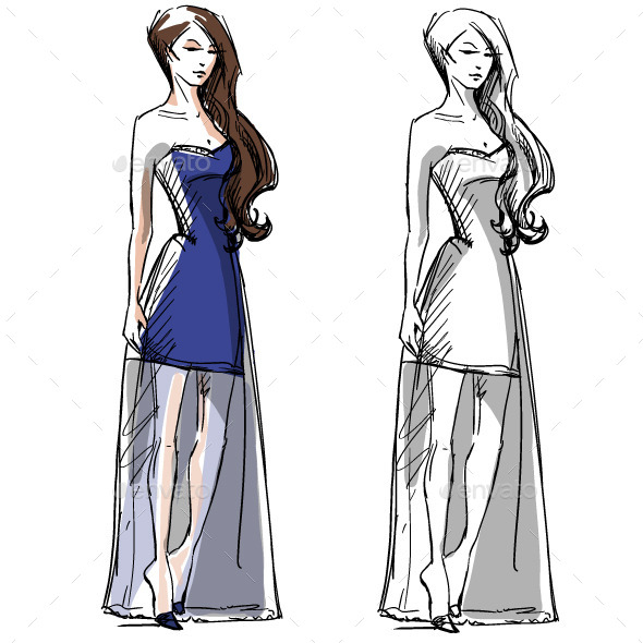 GraphicRiver Fashion Hand Drawn Illustration 10442848