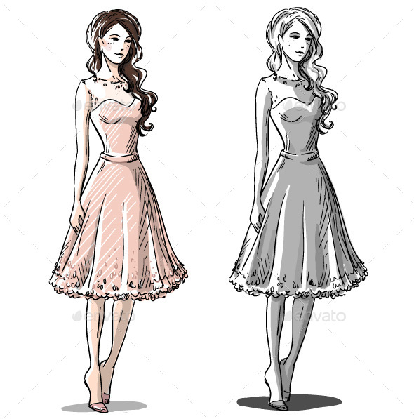 GraphicRiver Fashion Hand Drawn Illustration 10442873