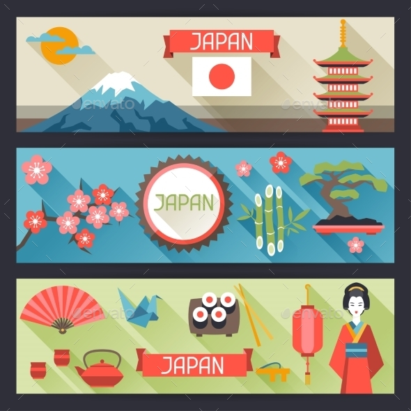 GraphicRiver Japan Banners Design 10442977
