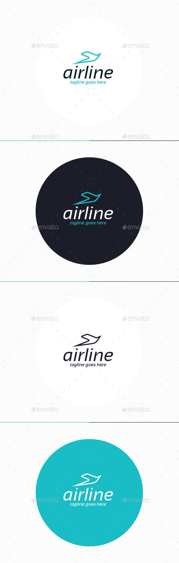 GraphicRiver Air Line Logo 10442985