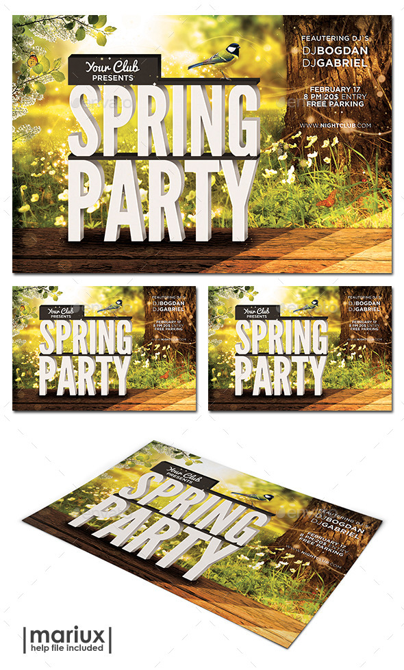 GraphicRiver Spring Party Flyer 10442989