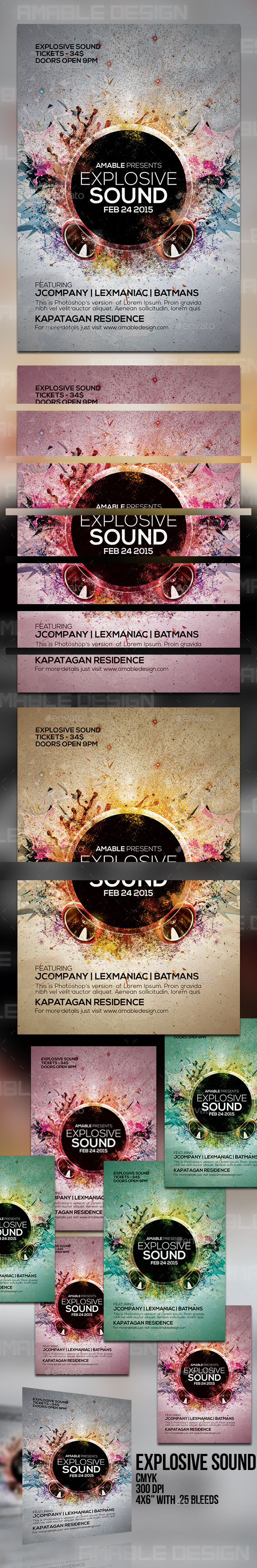 GraphicRiver Explosive Sound Flyer 10443008