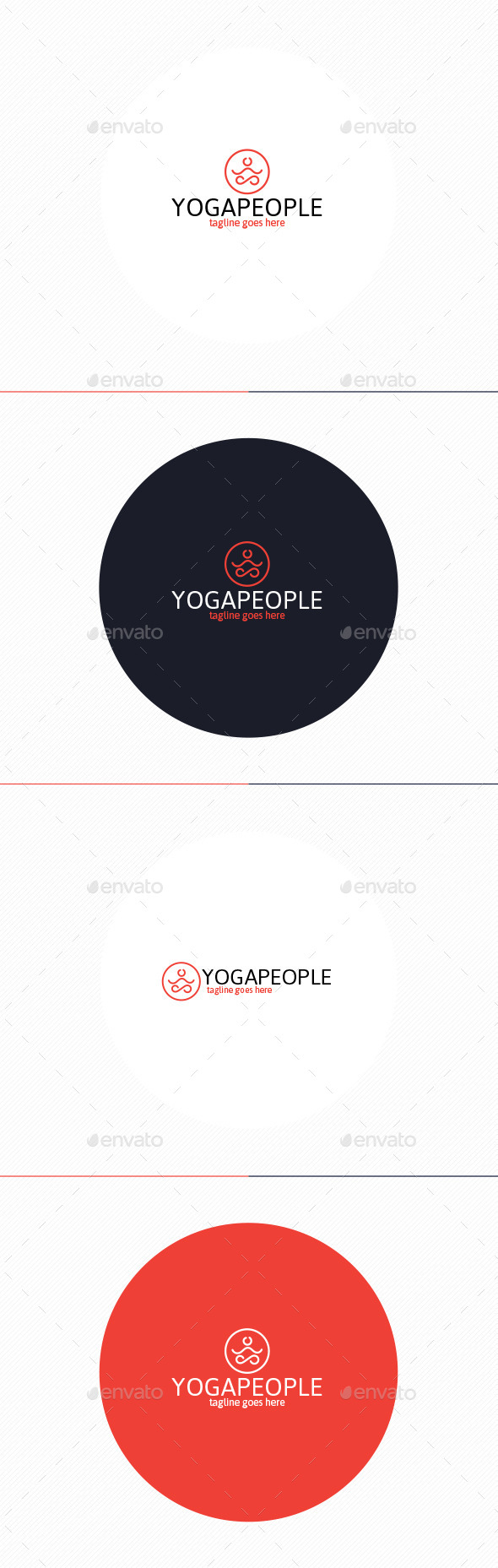 GraphicRiver Yoga People Logo 10443142