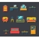 Flat Furniture Icons and Symbols Set - GraphicRiver Item for Sale
