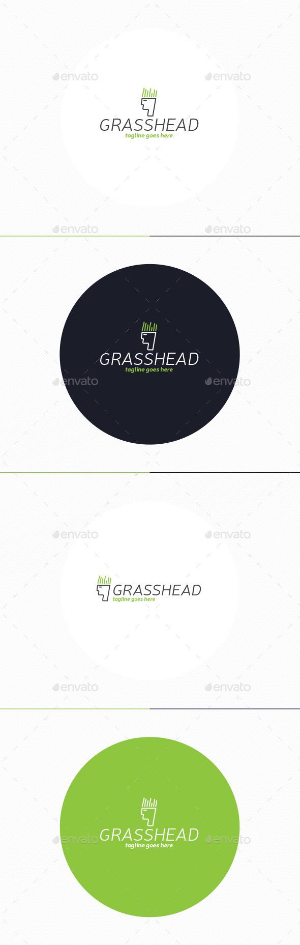 GraphicRiver Grass Head Logo 10443197