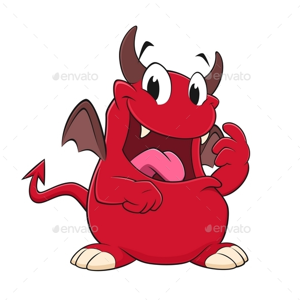 GraphicRiver Cartoon Devil 10443393