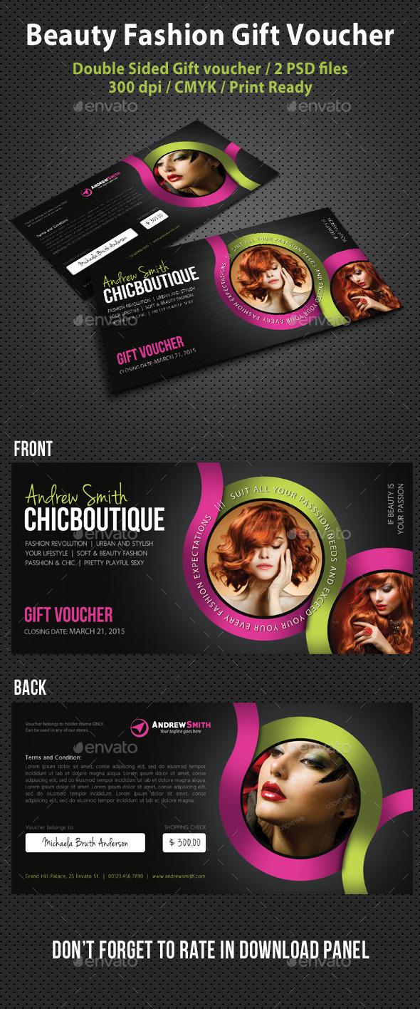 GraphicRiver Beauty Fashion Gift Voucher V05 10443496