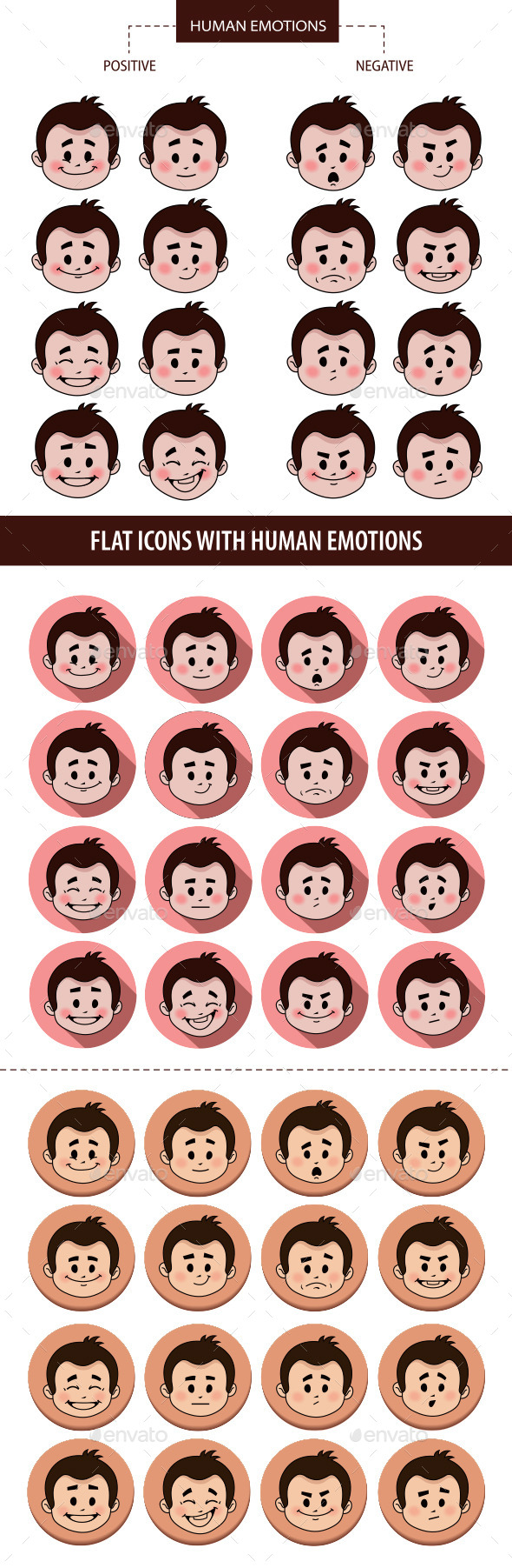 GraphicRiver Set of People Facial Expressions 10443622