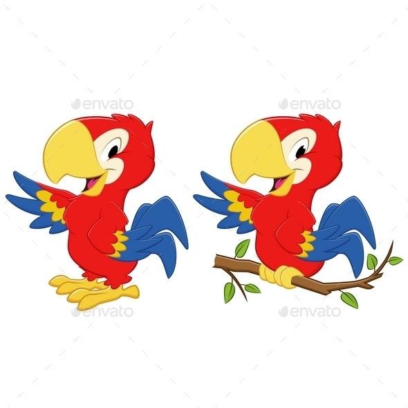 GraphicRiver Cartoon Parrot 10443631