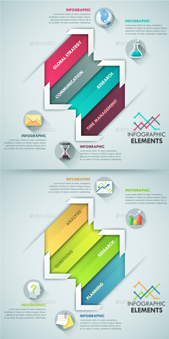 GraphicRiver Modern Infographic Paper Template 10443891