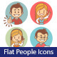 Flat Icons with Businessman and Businesswoman - GraphicRiver Item for Sale