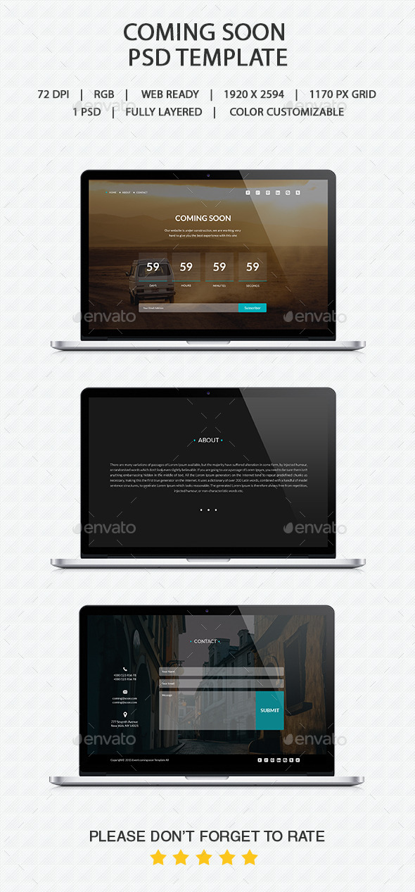 GraphicRiver Coming Soon PSD 10443976
