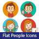 People Icons with Businessman and Businesswoman - GraphicRiver Item for Sale