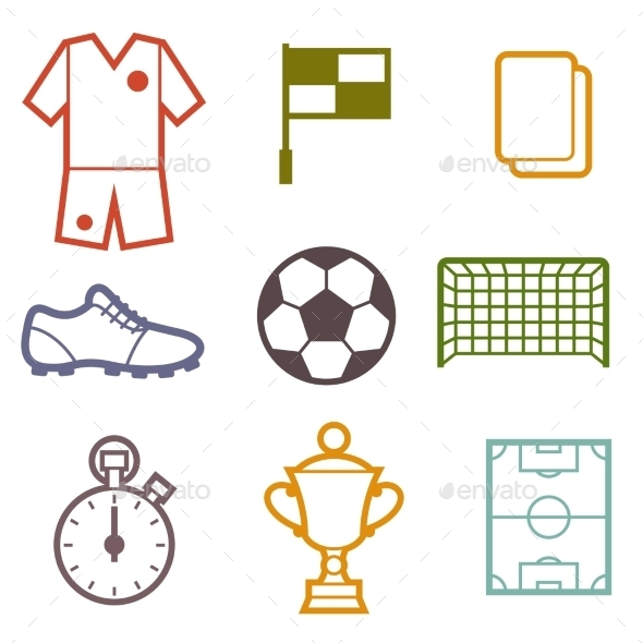 GraphicRiver Set of Sports Soccer Symbols 10443986