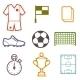 Set of Sports Soccer Symbols - GraphicRiver Item for Sale