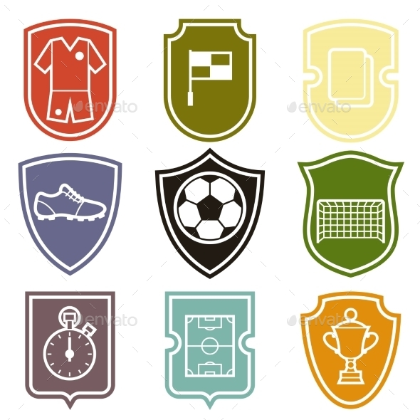 GraphicRiver Set of Sports Labels 10444004