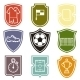 Set of Sports Labels - GraphicRiver Item for Sale