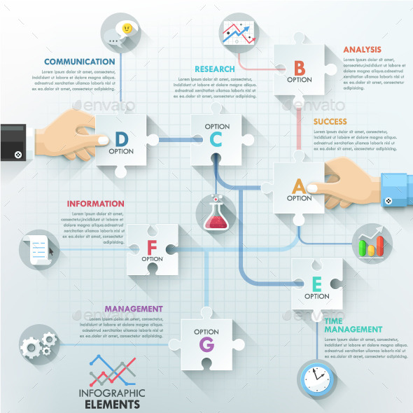 GraphicRiver Business Hands Teamwork Infographics 10444022