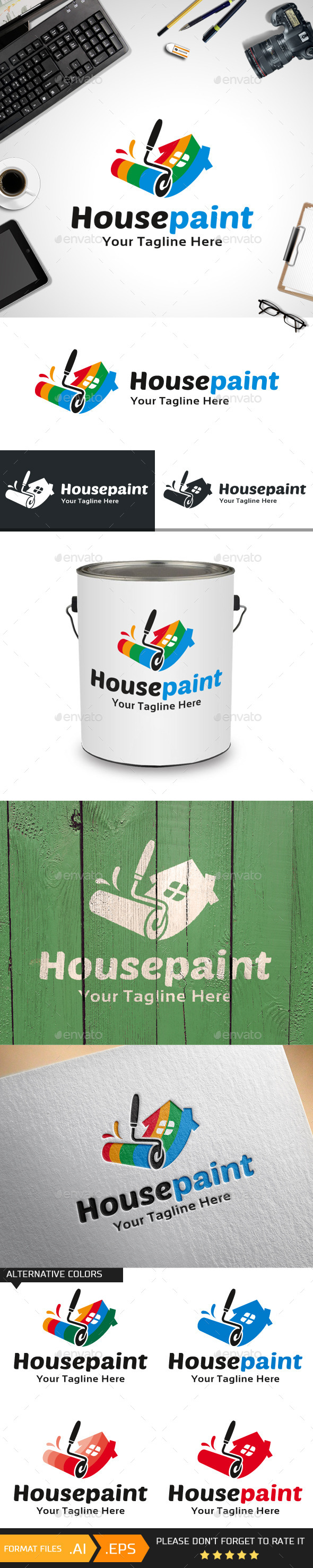 House Paint Logo Template