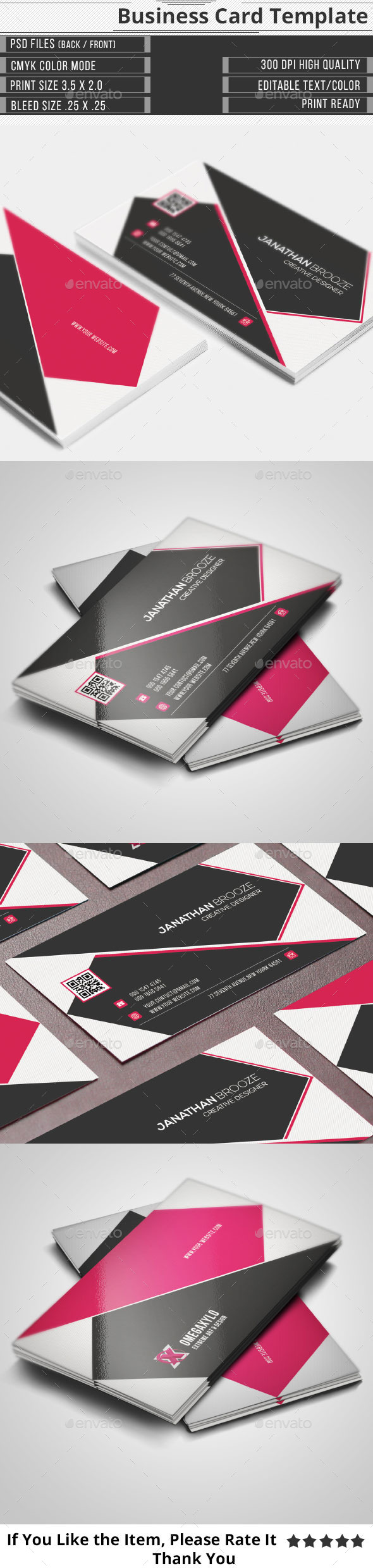 GraphicRiver Clean Creative Corporate Business Card 10444074