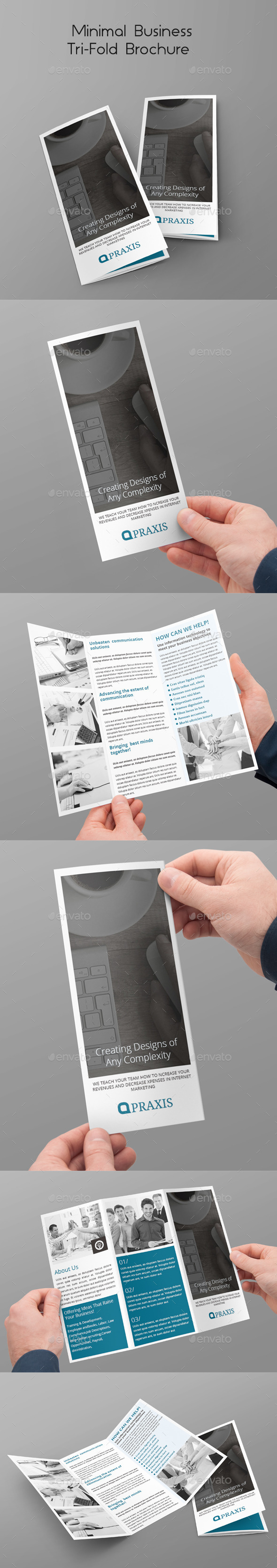 GraphicRiver Minimal Business Tri-Fold Brochure 10444081