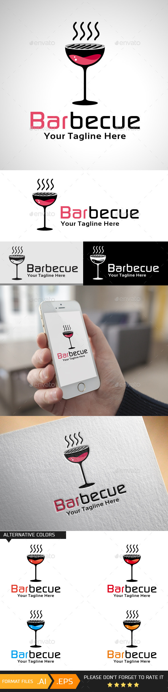 GraphicRiver Barbecue Logo Template 10444468