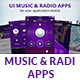 UI music & radio apps - GraphicRiver Item for Sale