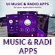 UI music & radio apps