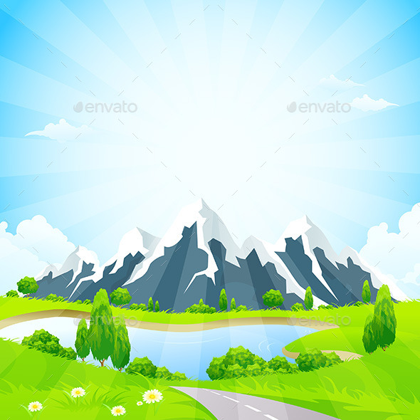 Restaurant Logo With Yellow Sun And Green Mountains » Tinkytyler.org ...