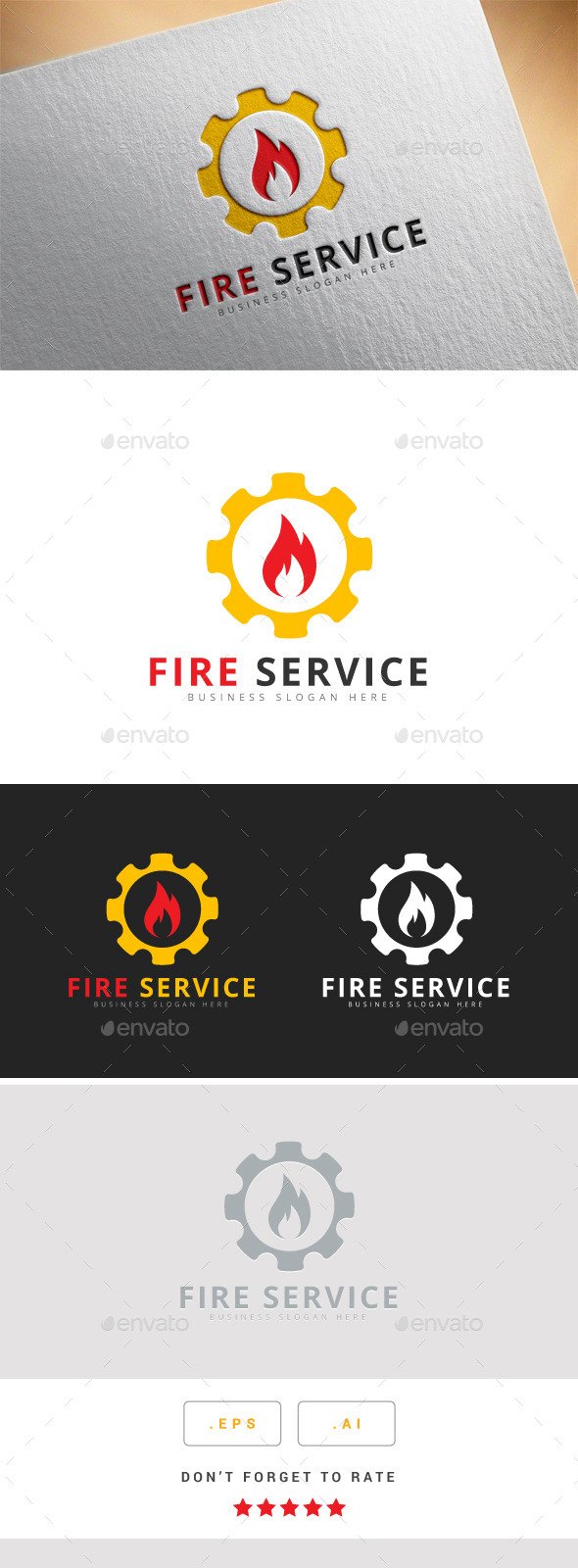 GraphicRiver Fire Service Logo 10444692