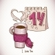 Cup of Tea in a Scarf - GraphicRiver Item for Sale