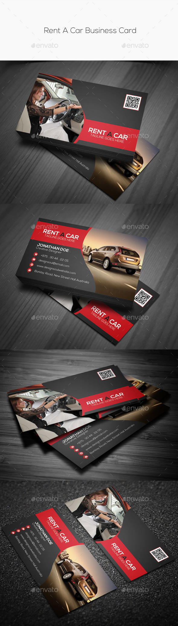 GraphicRiver Rent A Car Business Card 10445042